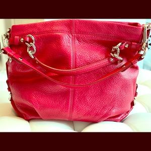 Coach Leather purse candy apple red!